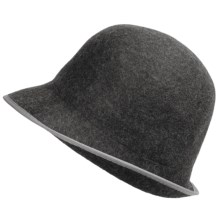 Asian Eye Giselle Hat - Boiled Wool (For Women) in Gray - Closeouts
