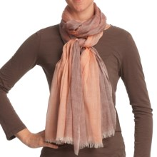 Asian Eye Gossamer Scarf - Lightweight, Wool (For Women) in Peach - Closeouts