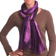 Asian Eye Gossamer Scarf - Lightweight, Wool (For Women) in Purple - Closeouts
