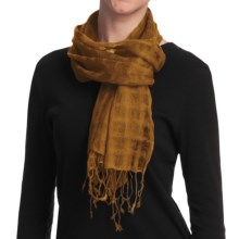 Asian Eye Grace Scarf - Lightweight, Wool (For Women) in Mustard - Closeouts