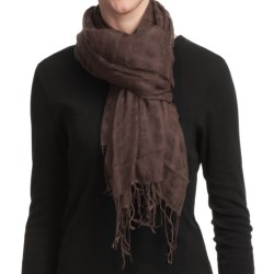 Asian Eye Grace Shawl - Wool (For Women) in Rust