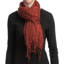 Asian Eye Grace Shawl - Wool (For Women) in Rust - Closeouts