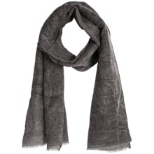 Asian Eye Harley Scarf - Stonewashed Denim (For Women) in Charcoal Grey - Closeouts