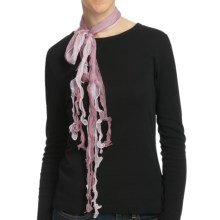 Asian Eye Hula Girl Layered Scarf - Sheer in Mulberry - Closeouts