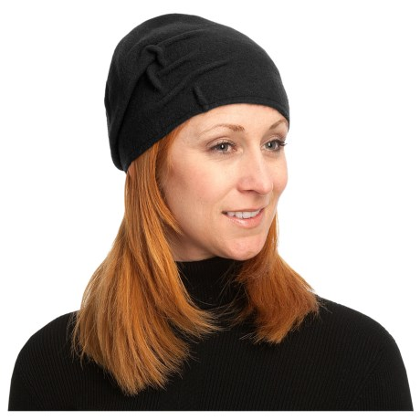 Asian Eye Joey Cloche Cap - Boiled Wool (For Women) in Black