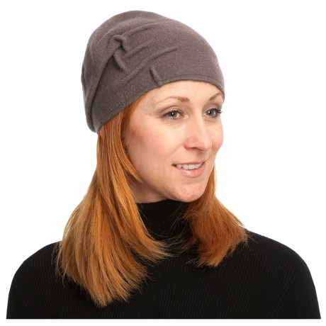 Asian Eye Joey Cloche Cap - Boiled Wool (For Women) in Stone
