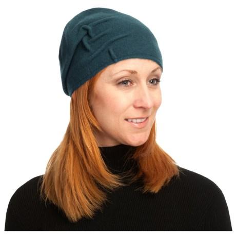 Asian Eye Joey Cloche Cap - Boiled Wool (For Women) in Teal