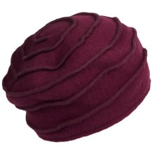 Asian Eye Kate Hat - Boiled Wool (For Women) in Wine - Closeouts