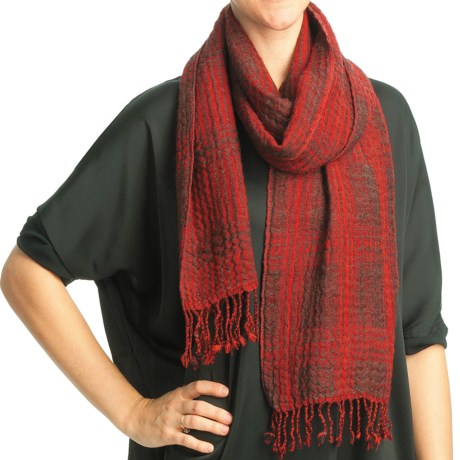 Asian Eye Kerouac Scarf - Wool, Reversible (For Women) in Red
