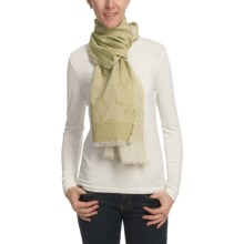 Asian Eye Kokio Scarf - Cotton Jacquard (For Women) in Lime - Closeouts