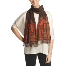 Asian Eye Kumo Castaway Scarf - Wool (For Women) in Brown/Orange - Closeouts