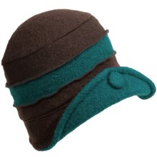 Asian Eye Lainy Hat - Boiled Wool (For Women) in Brown/Teal - Closeouts