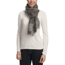Asian Eye Layla Lightweight Wool Scarf in Gray - Closeouts