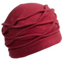 Asian Eye Lori Hat - Boiled Wool (For Women) in Cranberry - Closeouts