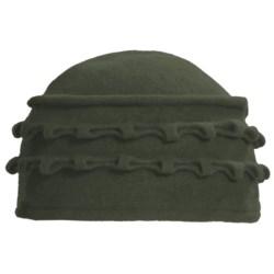 Asian Eye Lulu Hat - Boiled Wool (For Women) in Forest Green