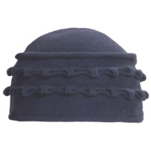 Asian Eye Lulu Hat - Boiled Wool (For Women) in Navy - Closeouts