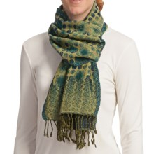 Asian Eye Lumi Scarf - Reversible, Boiled Wool (For Women) in Blue - Closeouts