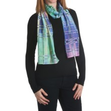 Asian Eye Meteor Scarf - Cotton-Silk (For Women) in Pastels - Closeouts