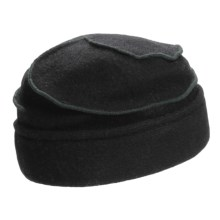 Asian Eye Mia Contrast Swirl Cap - Wool (For Women) in Black - Closeouts