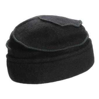 Asian Eye Mia Contrast Swirl Cap - Wool (For Women) in Black