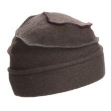 Asian Eye Mia Contrast Swirl Cap - Wool (For Women) in Brown - Closeouts