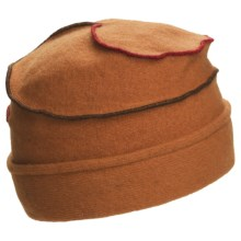Asian Eye Mia Contrast Swirl Cap - Wool (For Women) in Rust - Closeouts