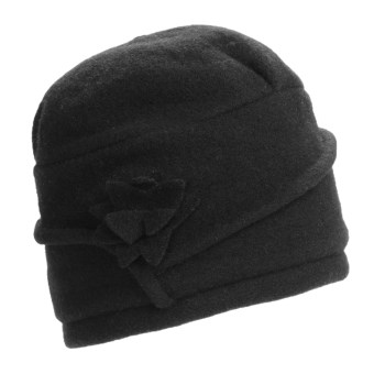 Asian Eye Monica Wool Cap - Flower (For Women) in Black