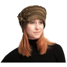 Asian Eye Nikki Fashionable Fleece Hat - Floral Accent (For Women) in Brown - Closeouts