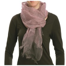 Asian Eye Pacific Sheer Woven Textured Scarf - Silk in Mauve - Closeouts