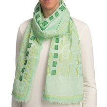 Asian Eye Paseo Scarf (For Women) in Green - Closeouts
