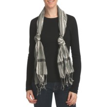 Asian Eye Petola Scarf (For Women) in Gray - Closeouts