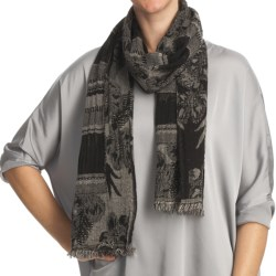 Asian Eye Rodeo Wool Scarf (For Women) in Brown