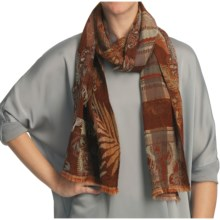 Asian Eye Rodeo Wool Scarf (For Women) in Brown - Closeouts