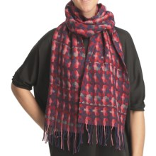 Asian Eye Shadowbox Over-Under Scarf - Woven Wool (For Women) in Purple - Closeouts
