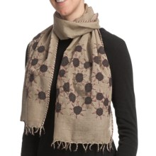 Asian Eye Sunny Scarf - Lightweight Wool (For Women) in Taupe Multi - Closeouts