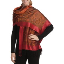 Asian Eye Supersilk Scarf (For Women) in Masala Orange - Closeouts