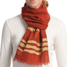 Asian Eye Surf Scarf - Wool (For Women) in Rust Multi - Closeouts