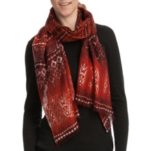 Asian Eye Tatu Scarf - Light Wool (For Women) in Red Multi - Closeouts