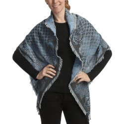 Asian Eye Windsor Scarf - Wool (For Women) in Blue Multi