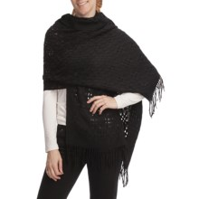 Asian Eye Zephyr Shawl - Wool (For Women) in Black - Closeouts