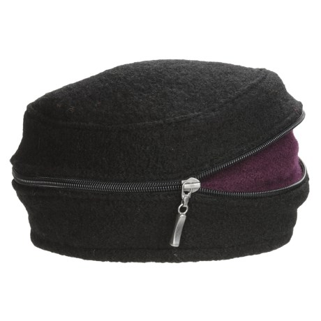 Asian Eye Zippy Wool Beret (For Women) in Teal/Blue