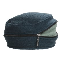 Asian Eye Zippy Wool Beret (For Women) in Teal/Blue - Closeouts