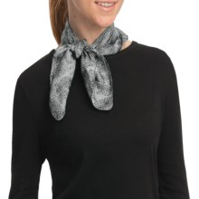 Asian Eye Zuma Scarf - Silk (For Women) in Black/White - Closeouts
