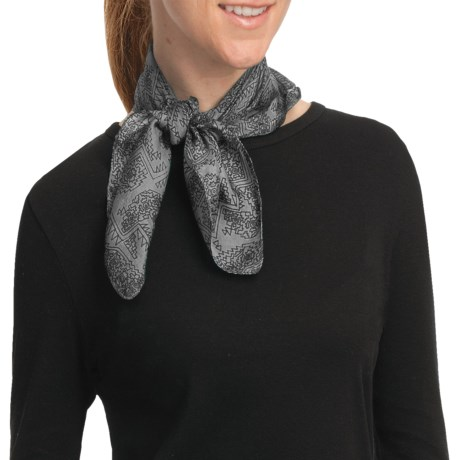 Asian Eye Zuma Scarf - Silk (For Women) in Black/White