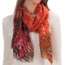 Asian Eye Zyla Scarf - Wool-Silk (For Women) in Orange - Closeouts