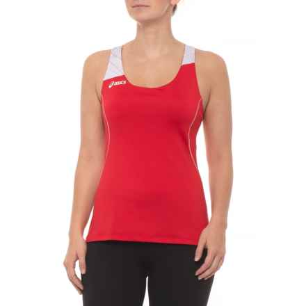 ASICS Alley Tank Top - Racerback (For Women) in Red/White - Closeouts