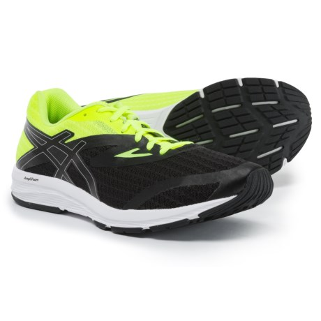ASICS Amplica Running Shoes (For Men) in Black/Silver/Safety Yellow