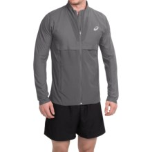ASICS Athlete Jacket - Full Zip (For Men) in Dark Grey - Closeouts