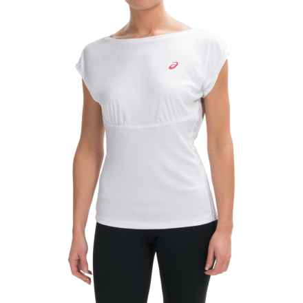 ASICS Athlete Shirt - Short Sleeve (For Women) in Real White - Closeouts