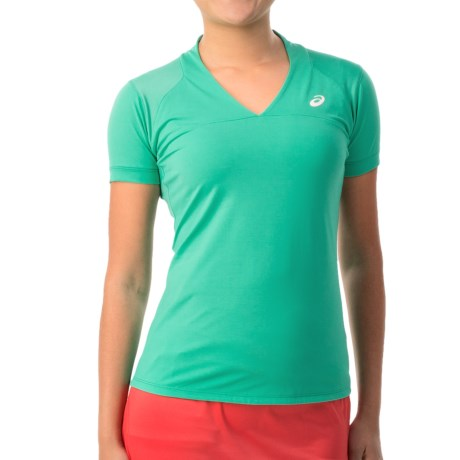 ASICS Athlete T Shirt V Neck, Short Sleeve (For Women)
